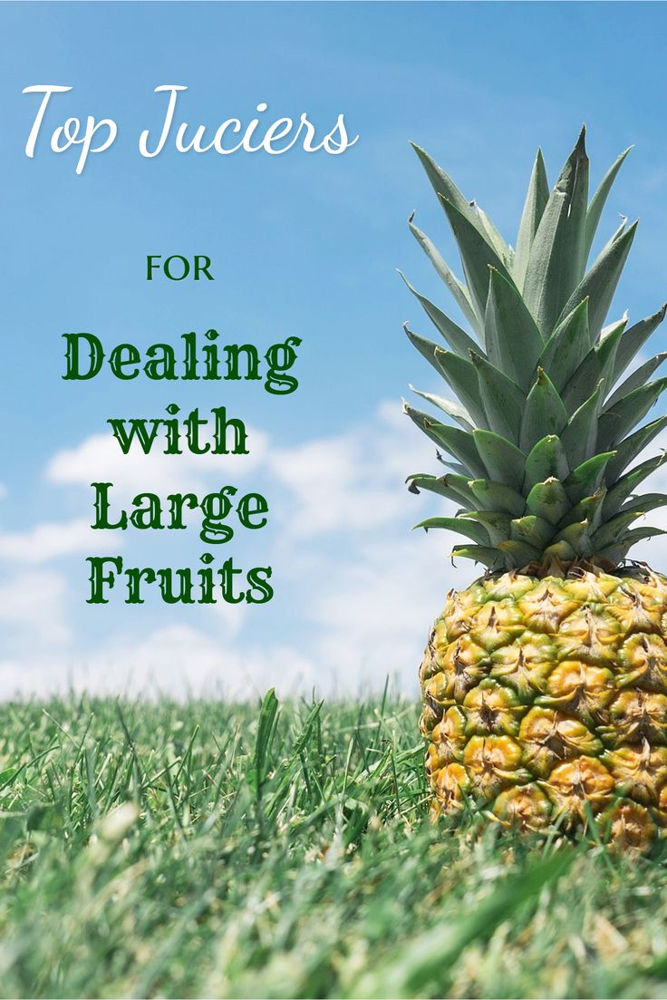 Top Juicers for Dealing with Large Fruits. If you plan to do alot of juicing it is really helpful if your juicer can cope with whole fruits like apples or large chunks of fruits like pineapple.