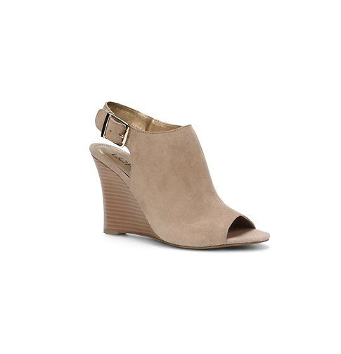 Aiden Suede Peep Toe Wedge Sandals | Loft