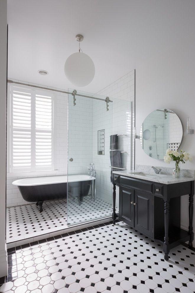 Auckland Ground Floor Victorian Bathroom Black Amp White