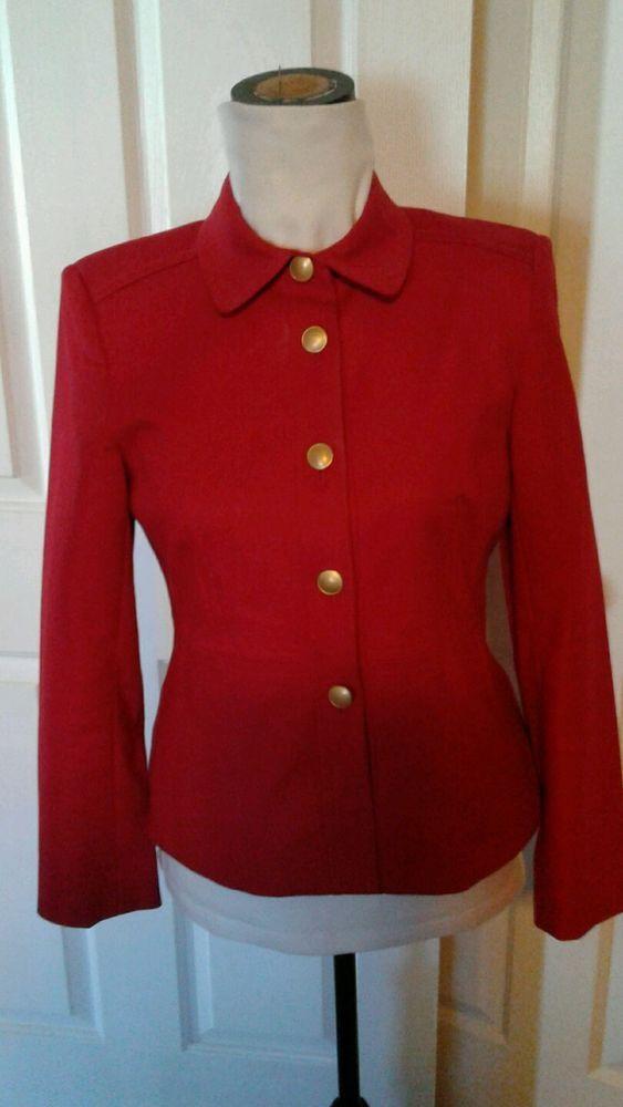 Rafaella Petites Jacket, Blazer  8P Fully Lined Red Women's #Rafaella #Blazer