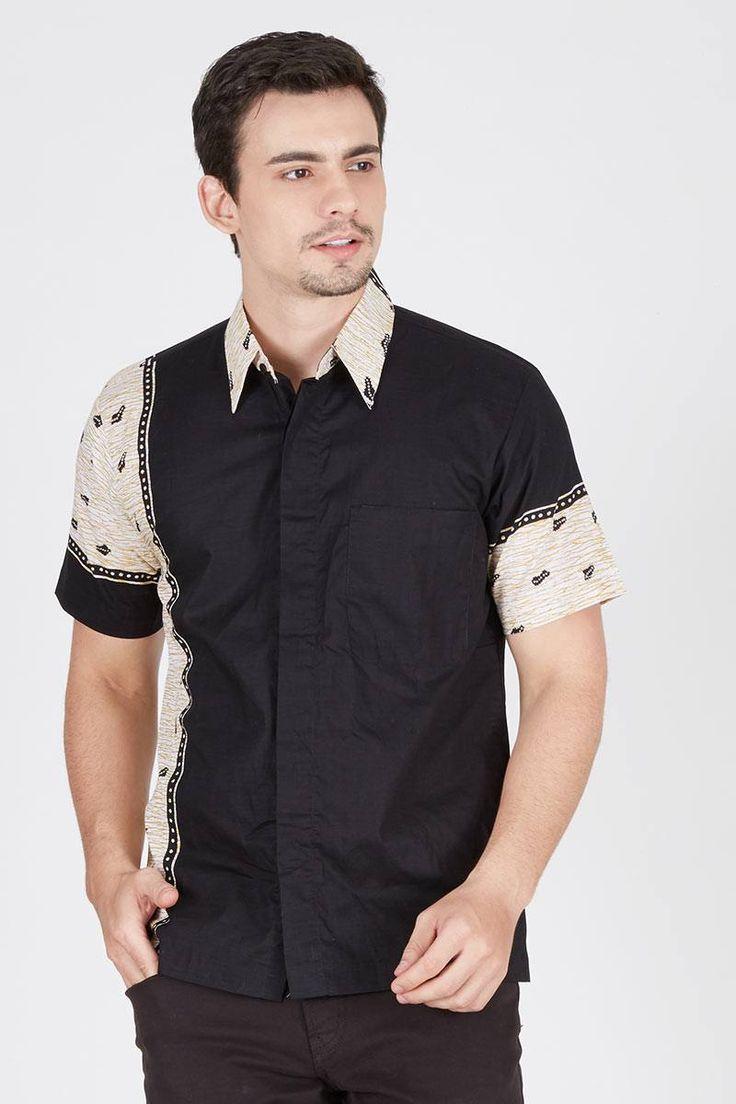 Men Kemeja Monocrome Batik-cap