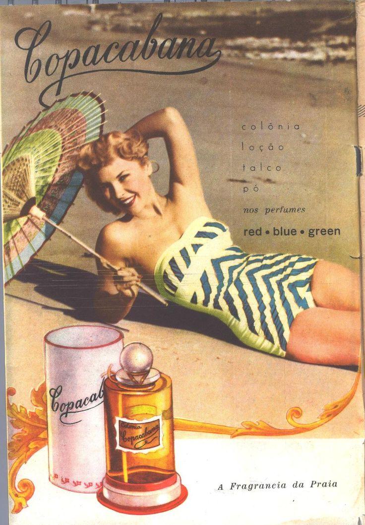 Fon Fon n.2380, 22 November 1952 -     Click image for 1096 x 1576 size.  Brazilian vintage magazine. Copacabana cosmetics.  Image kindly donated by Ciana Bodini.