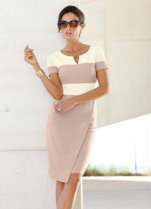 9a2670043 Vestido Tubinho Modelador Bege - bonprix - Compre em até 5X sem juros na  loja bonprix