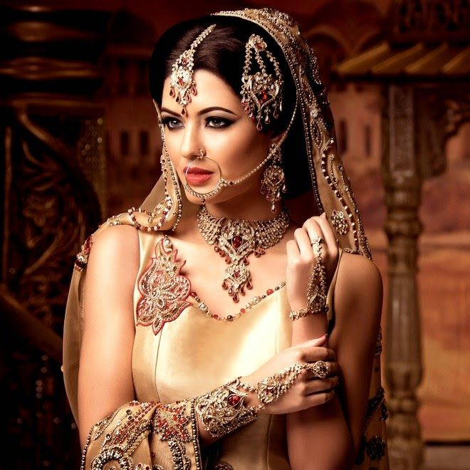 Indian Bridal Jewelry Sets - See more stunning jewelry at StellarPieces.com!