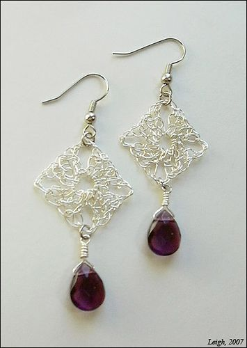 Granny Square Earrings by Leigh_M, via Flickr