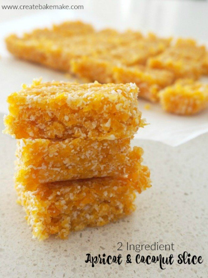 2 Ingredient Apricot and Coconut Slice Recipe