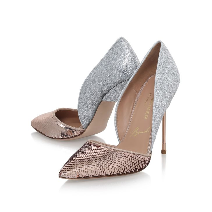 Bond Pink High Heel Court Shoes By Kurt Geiger London | Kurt Geiger