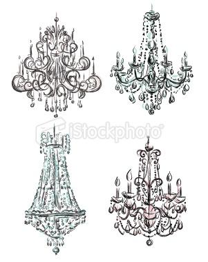 chandelier drawings