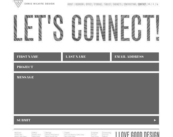Chris Wilhite Design Creative Web Forms