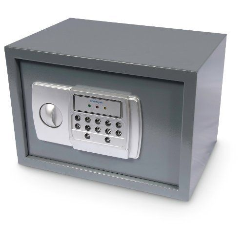Sportlock Large Electronic Safe by SPORT LOCK. $79.99. Sportlock Large Electronic Safe with a removable shelf to separate firearms and a stash of valuables! Burglary and break-ins are a reality. If the unthinkable happens, you can protect important jewelry, documents and more in this Large Electronic Safe from Sportlock. Built with 16-gauge steel and a combination lock with over 1,000 possibilities, this stronghold is designed to keep both curious kids and criminals OUT. Has a s...
