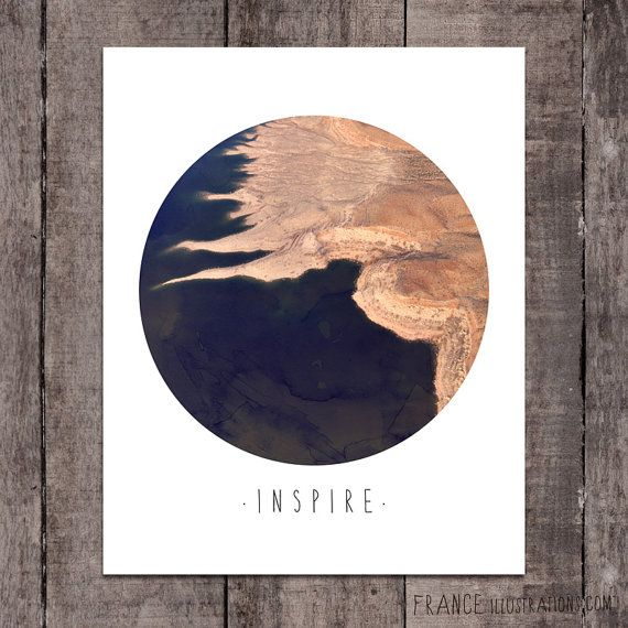 INSPIRE Wall Art /// Abstract Landscape Home by FRANCEillustration, $6.00