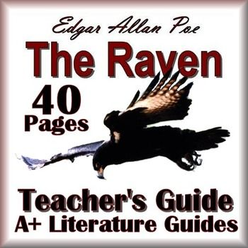 40 page Common-Core Aligned Complete Teacher's Guide for The Raven by Edgar Allan Poe.This guide has everything that you will need to teach and assess the poem. The calendar explains the skills and activities for the day, and the final test is Common Core aligned and includes the answer key.