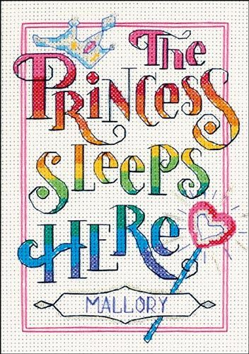 THE PRINCESS SLEEPS HERE Dimensions counted cross stitch kit GIRL