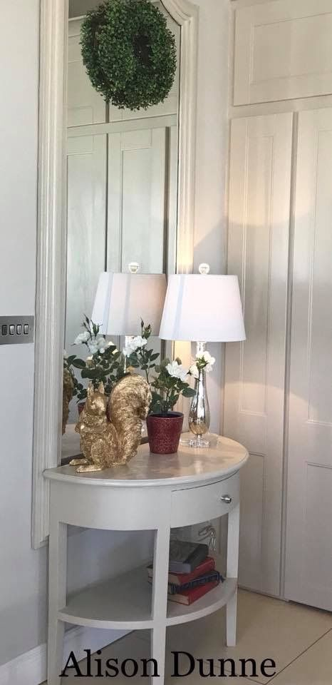 """Some interior inspo for anyone searching for ideas/neutral colours for upcycycling. Interior designer Alison Dunne has """"First Edition"""" on the walls and """"Hepburn Mid"""" on the woodwork😍"""