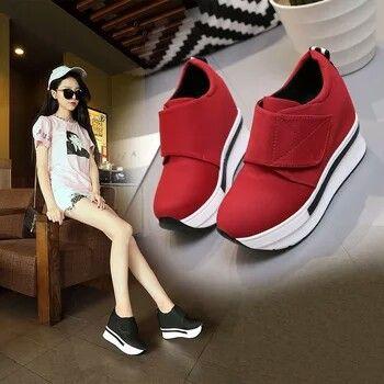 2018 <b>Spring</b> New <b>Designer Wedges</b> red … | Женская обувь кеды ...