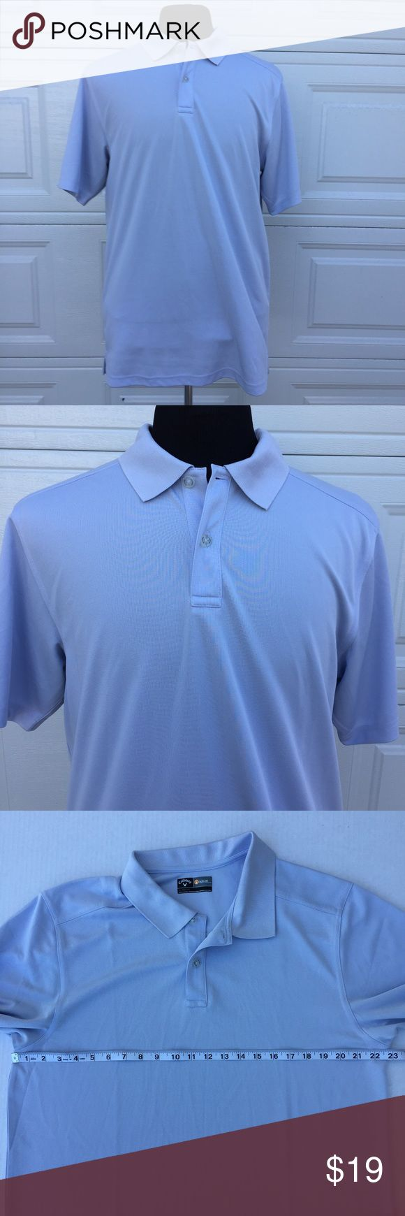 Men's Callaway Opt-Dri Short Sleeve Polo XL You're purchasing a Men's Callaway Opt-Dri Short Sleeve Powder Blue Polo in XL. One sleeve embroidered with Henry Brown Buick GMC/other sleeve has embroidered Callaway logo. Pre-Owned in good condition. Callaway Shirts Polos