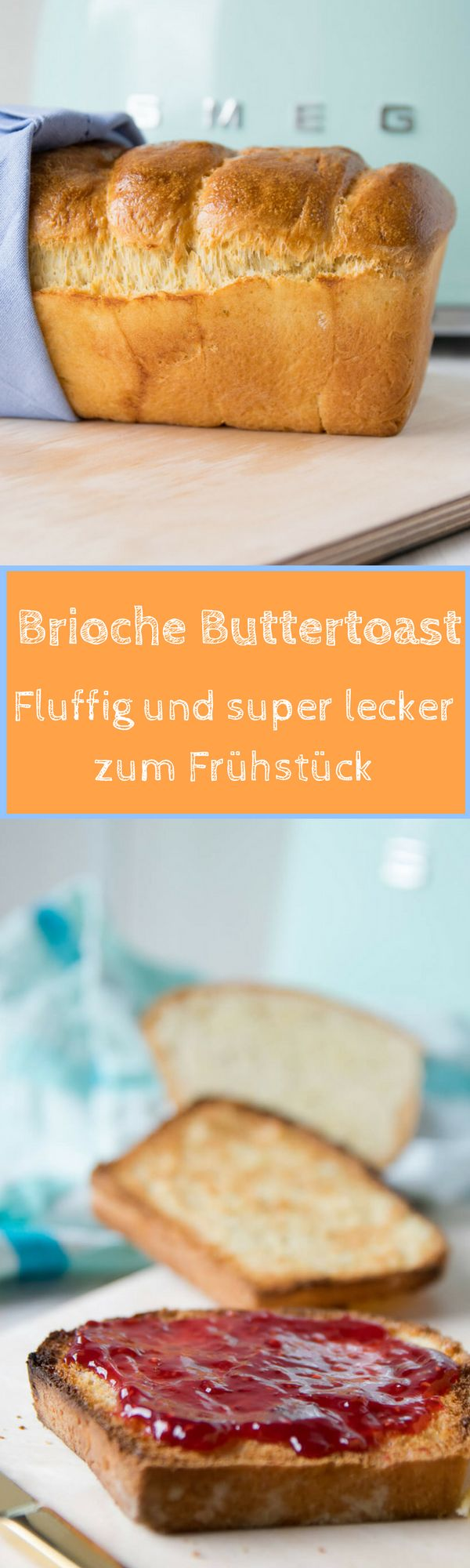 Tolles Rezept für selbstgemachtes Buttertoastbrot, das einfach unglaublich lecker schmeckt