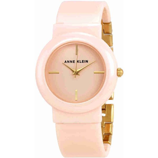 Anne Klein Light Pink Dial Ladies Watch (5.905 RUB) ❤ liked on Polyvore featuring jewelry, watches, water resistant watches, quartz movement watches, dial watches, analog watches and anne klein jewelry