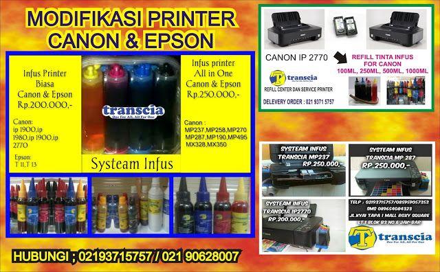 refill tinta & toner printer inkjet laserjet Canon,Hp,Epson,Brather,Samsung,Panasonik,Xerox: SYSTEAM INFUS CANON & EPSON