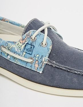 Agrandir Sperry - Topsider - Chaussures bateau imprimées en toile