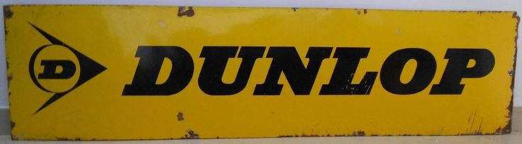 1940s Vintage Rare Dunlop Tyre Porcelain Enamel Sign Board Heavy Weight s264