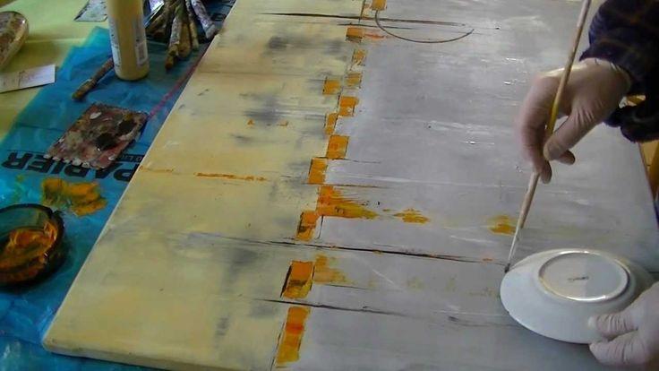 """Acrylmalerei abstract acrylic painting Demo Abstraktes Bild malen """"Loud"""""""