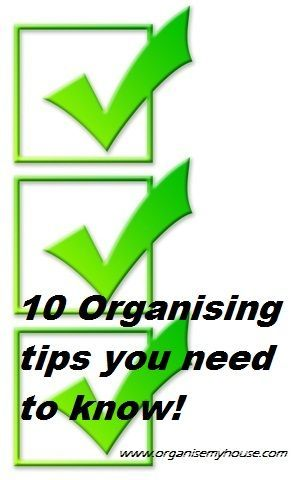 Top 10 organizing tips that will change your life!