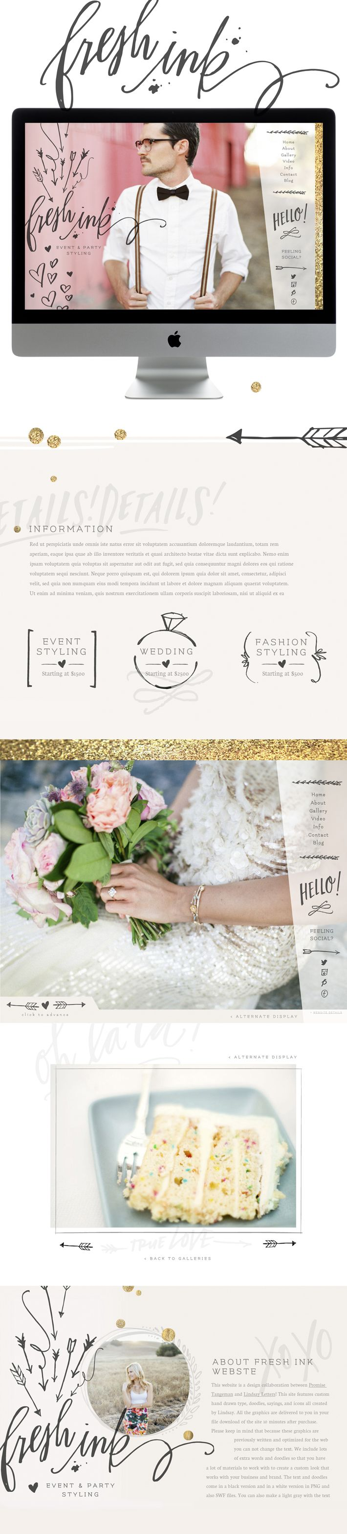 FRESH INK: sitehousedesigns.com      Designed by Lindsay Letters and Promise…