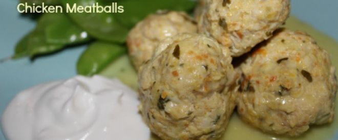 Curried chicken balls - i threw everything in thermie including diced organic chicken breast. fab!