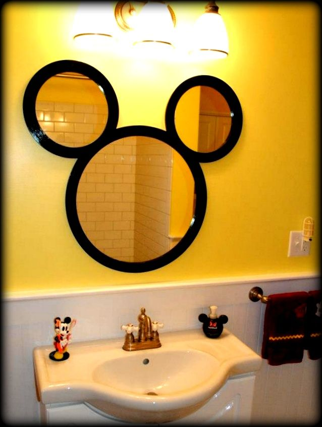 mickey mouse bathroom mirror