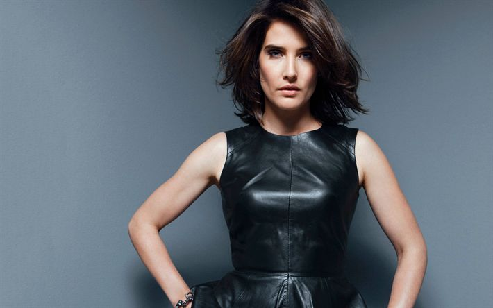Download wallpapers Cobie Smulders, 2017, canadian actress, brunette, Hollywood, beauty