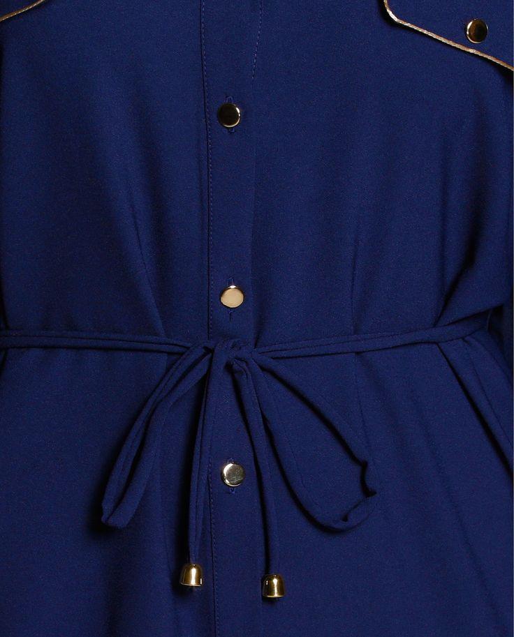 Vestido camisero de mujer  Antea Plus en azul marino. El corte inglés. 69,99€