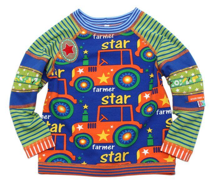 Langarmshirts - Shirt 86/92 HENRIC Star Farmer - ein Designerstück von mynata bei DaWanda