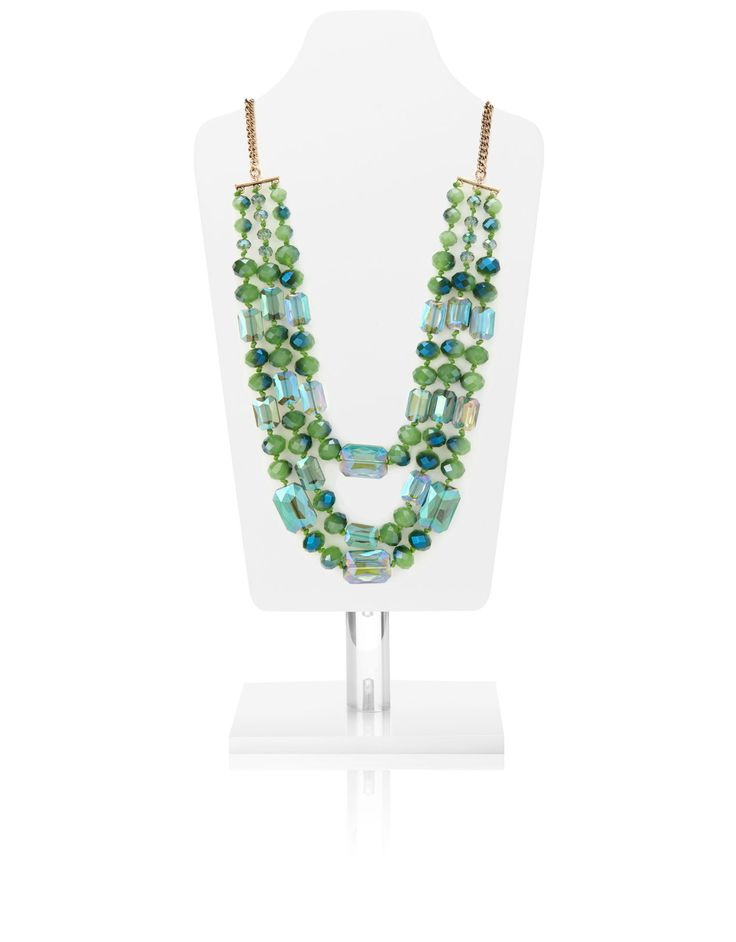 Greenbay Sparkle Glass Necklace | Green | Monsoon