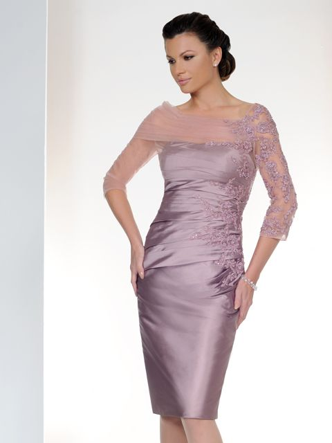 A fabulous Mother of the Bride & Mother of the Groom dress from the Spring/Summer 2015 Collection from Irresistible. This dress has been beautifully designed in a sugar plum/lilac/purple silk effect fabric with netted embellished sleeves and has an embellished bodice. Product code IR1275S5.  View more Mother of the Bride / Groom dresses from our Irresistible collection at: http://www.baroqueboutique.co.uk/mother-of-the-bride-south-wales/  Photographs courtesy of…