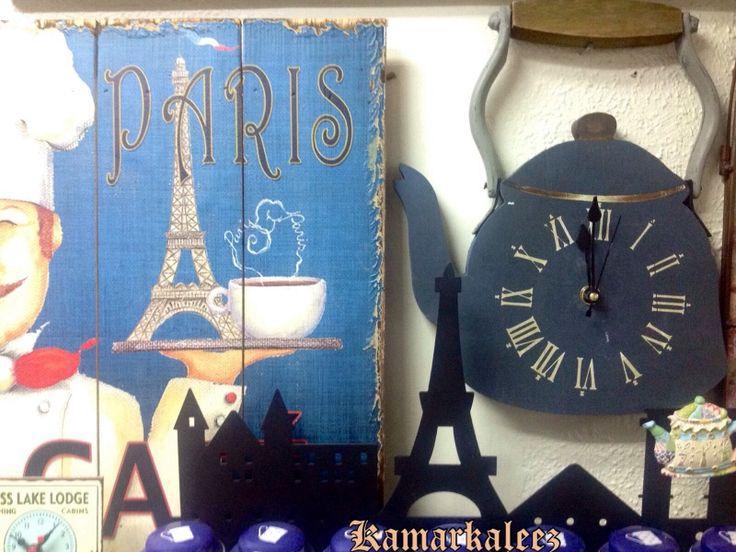 Wooden Kettle Wall Clock