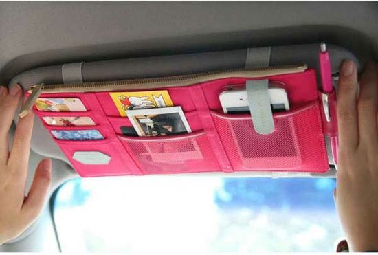 Free Shipping Sun Visor Point Pocket Multifunctional Storage Bag Car Accessories Auto Organizer with 3 Colors on AliExpress.com.