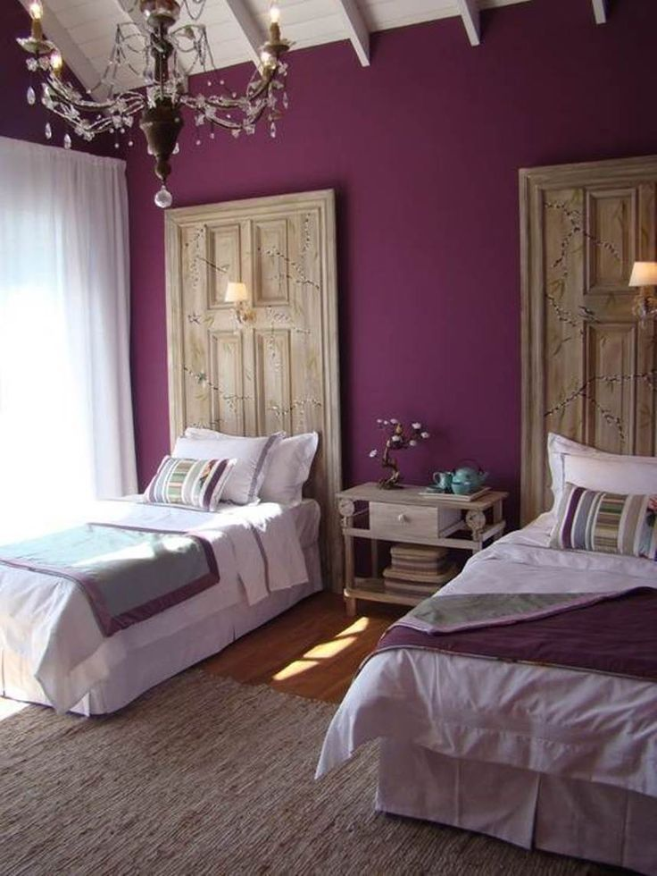17 best images about purple bedroom on pinterest office for Purple bedroom designs