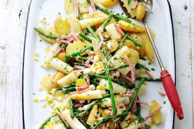 Salade op z'n Vlaams met asperges, ham, ei en krieltjes - Recept - Allerhande