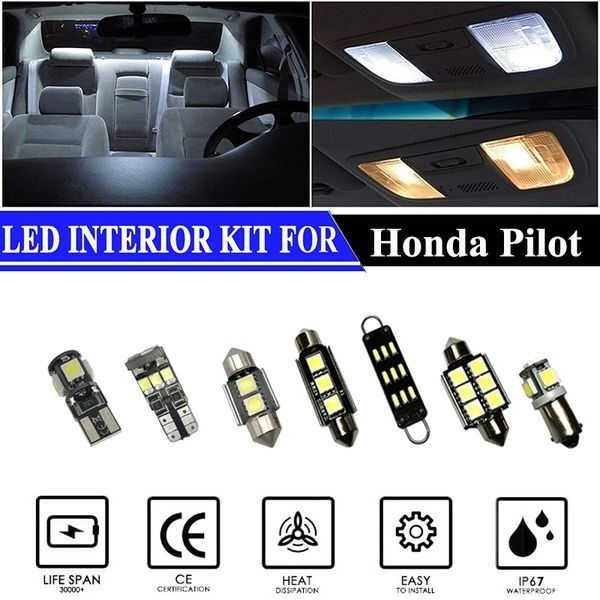 Led Interior Lights Accessories Replacement Package Kit For 2006 2008 Honda Pilot 12 Pieces Wish In 2020 Light Accessories Interior Lighting Honda Fit