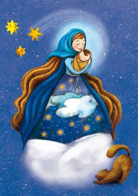 Karácsonynak éjszakáján - Print, Képzőművészet , Dekoráció, Illusztráció, Kép, Meska