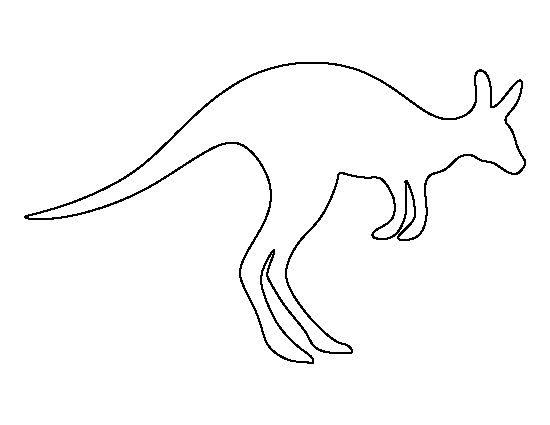 Kangaroo pattern. Use the printable outline for crafts, creating stencils, scrapbooking, and more. Free PDF template to download and print at http://patternuniverse.com/download/kangaroo-pattern/