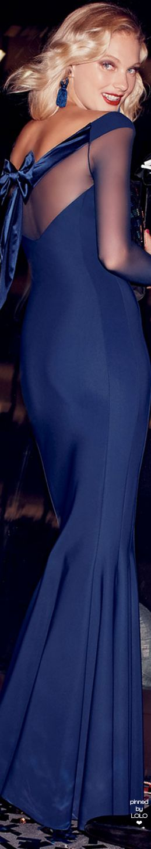 Chiara Boni La Petite Robe Bateau-Neck Illusion Bow Trumpet Gown