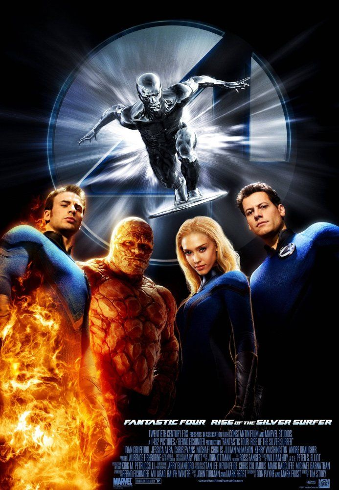 Fantastic 4: Rise of the Silver Surfer (2007) 4: Rise of the Silver Surfer (original title) PG   -    The Fantastic Four learn that they aren't the only super-powered beings in the universe when they square off against the powerful Silver Surfer and the planet-eating Galactus.  -    Director: Tim Story  -   Writers: Don Payne (screenplay), Mark Frost (screenplay)  -    Stars: Ioan Gruffudd, Jessica Alba, Chris Evans  -    ACTION / ADVENTURE / FANTASY