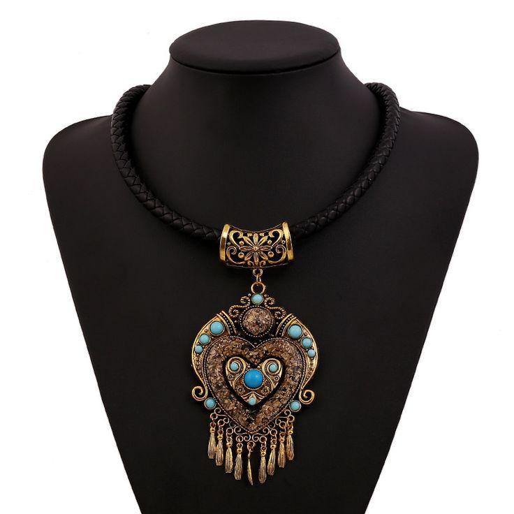2016 новинка чешские ожерелья цветы мощности кисточкой воротник большой камень старинные этническая колье макси ожерелье женщины купить на AliExpress
