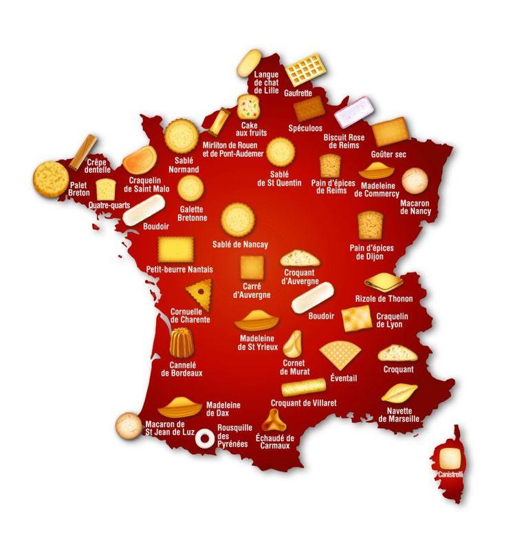 Les biscuits et les gâteaux de France