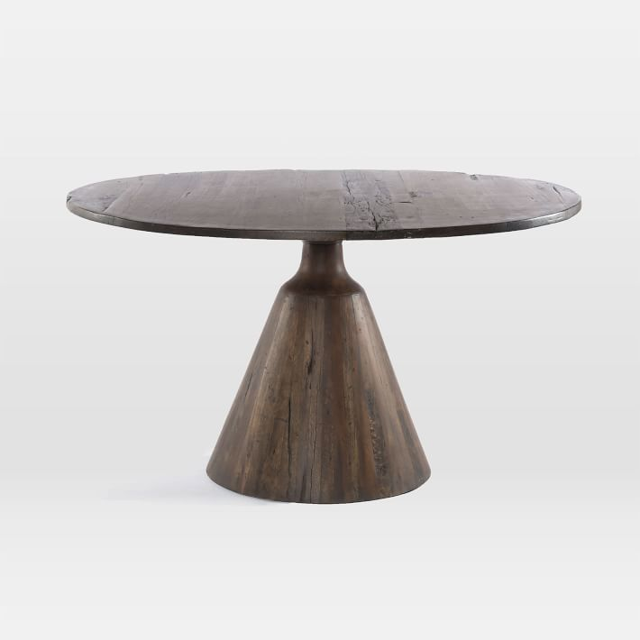 Reclaimed Wood Pedestal Dining Table West Elm In 2020 Dining