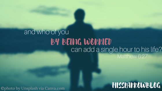 and who of you by being worried can add a single hour to his life_ Matthew 6:27 | HISsparrowBlog | christian living