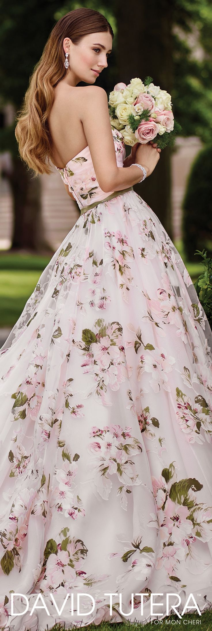 669 best images about david tutera for mon cheri on for Floral dresses for weddings