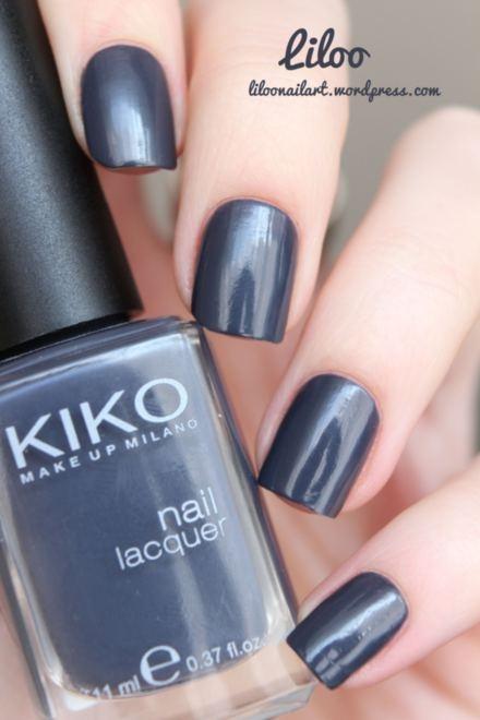 Le vernis purple grey 381 de chez Kiko